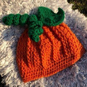 Crochet pumpkin 🎃 hat infant size 6 months